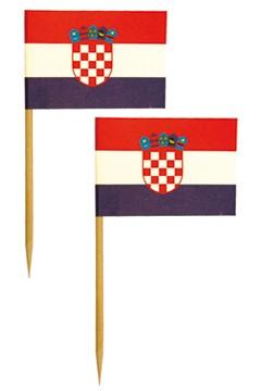 """""""Fahnenpicker """"""""Kroatien"""""""" 6.8cm, 500 Stk."""""""