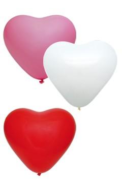 """Luftballons """"Herz"""", bunt, Ø36cm, 50 Stk."""