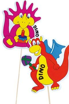 """Deko-Picker """"Dino Familie"""", 23cm, 100 Stk."""